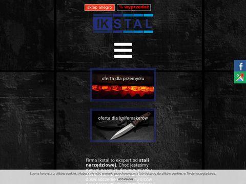 Ikstal.pl stal na noże przemysłowe