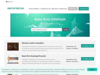 Infofresh.pl indeks firm