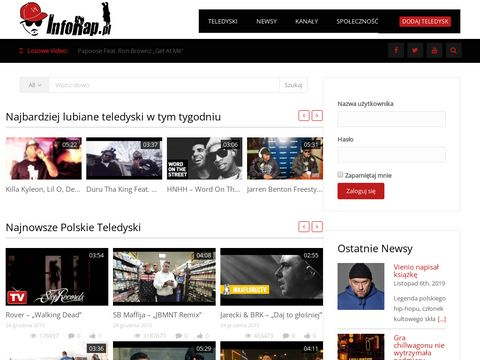 Inforap.pl teledyski Rap i Hip-Hop