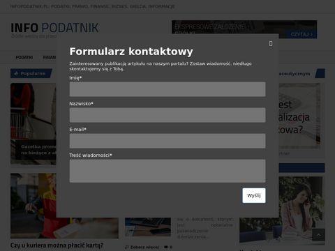 Infopodatnik.pl czyli portal dla przedsiębiorców