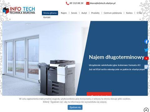 Info Tech serwis niszczarek do dokumentów