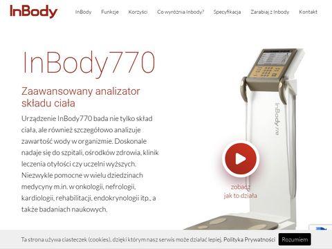 Inbody770.pl zawansowany analizator masy ciała
