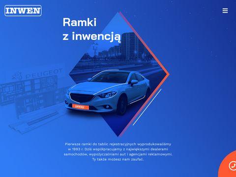 Inwen.com.pl ramki tablicy rejestracyjnej