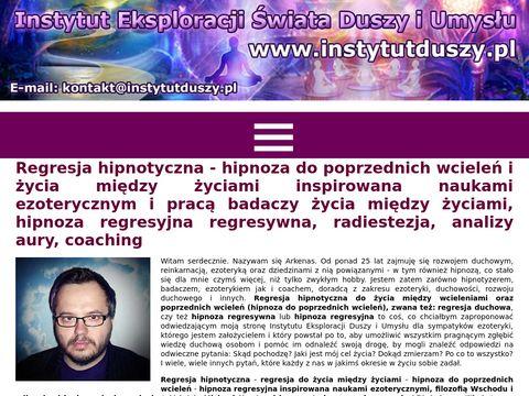 Instytutduszy.pl hipnoza do poprzednich wcieleń