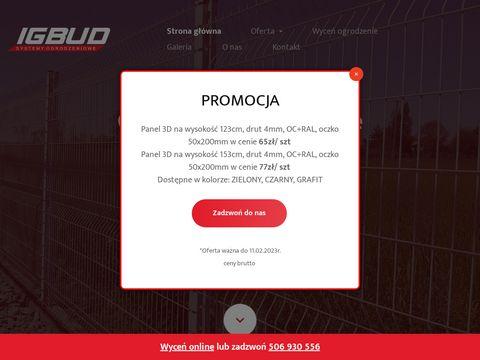 Igbud-ogrodzenia.pl siatka ogrodzeniowa Śląsk