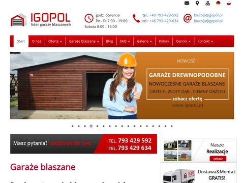 Igopol.pl garaże blaszane - wiaty i blaszaki