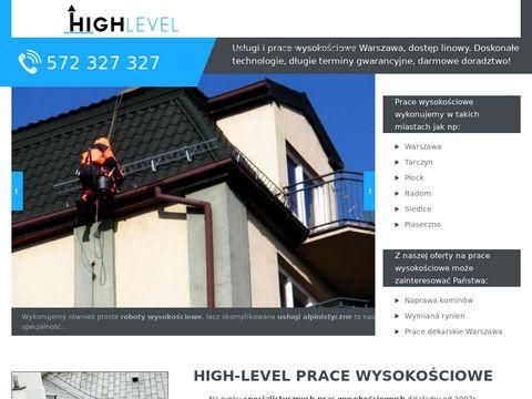High-Level prace wysokościowe