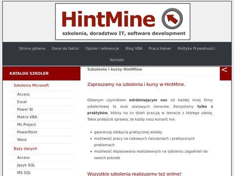 Hintmine.com szkolenia VBA Częstochowa