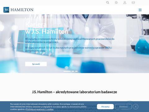 J.S. Hamilton kontrola towarów
