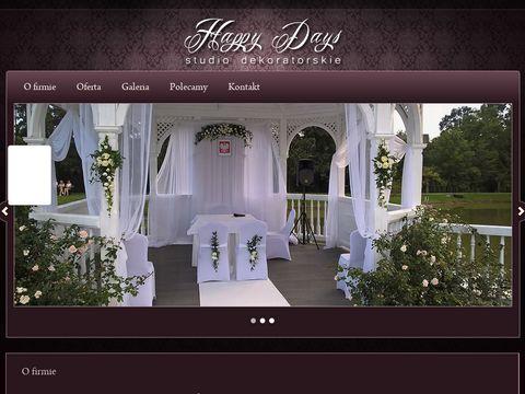 Happy Days studio dekorowania ślubów