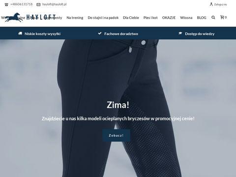 Hayloft.pl sprzęt jeździecki dla konia