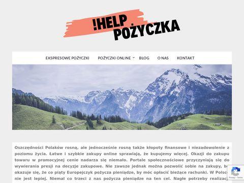 Helppozyczka.pl wniosek o pożyczkę