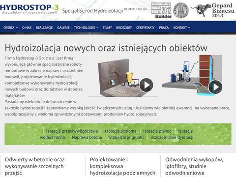 Hydrostop3.pl izolacja przeciwwilgociowa osuszanie