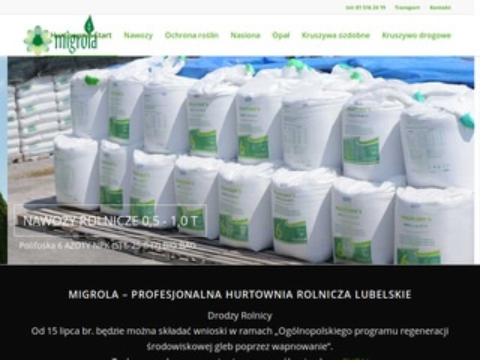 Migrola hurtownie rolnicze kruszywa transport