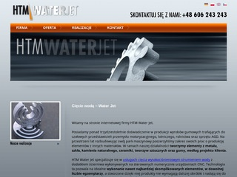 Htm-waterjet.pl cięcie blach Bielsko-Biała