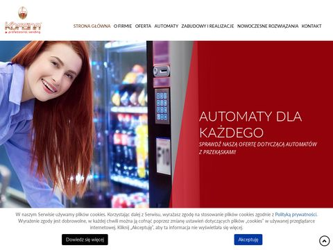 Kofeinalodz.pl automaty do kawy