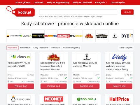 Kody.pl - kody rabatowe i kupony promocyjne