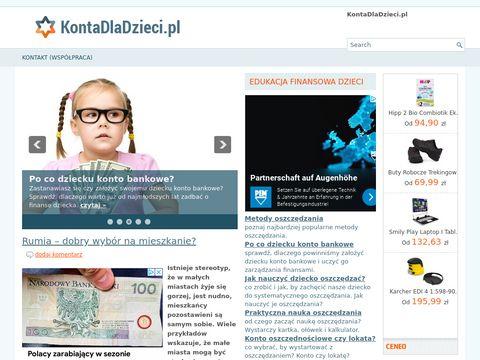 Kontadladzieci.pl Konto oszczędnościowe dla dziecka