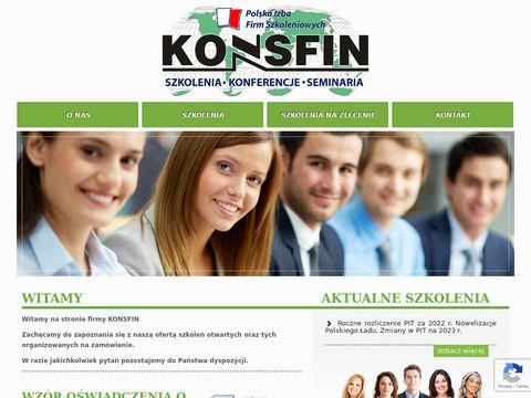 Konsfin - księgowość szkolenia