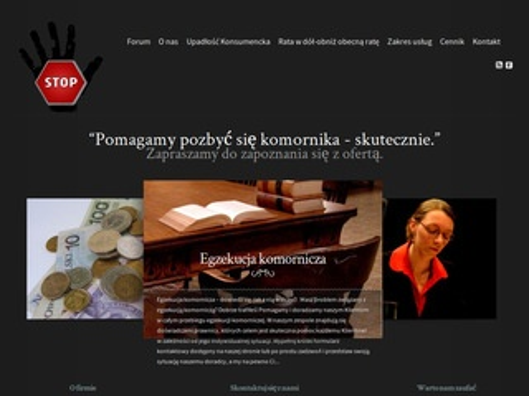 Komornikstop.pl zajęcie komornicze