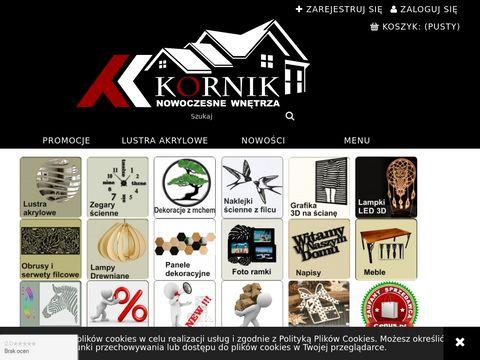 Kornikdesign.pl dizajnerskie dodatki do domu