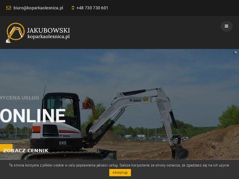 Koparkaolesnica.pl usługi