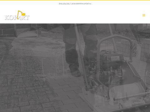 Kop-art.pl prace ziemne, usługi, koparka