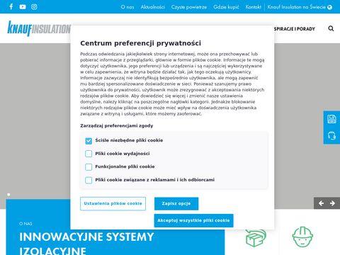 Knaufinsulation.pl materiały izolacyjne