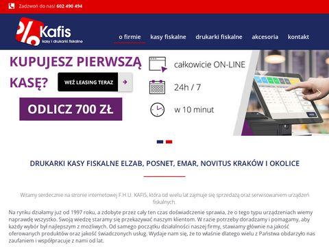 Kafis – drukarka fiskalna i kasy fiskalne