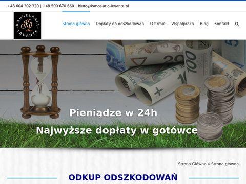 Kancelaria-levante.pl odkup odszkodowania