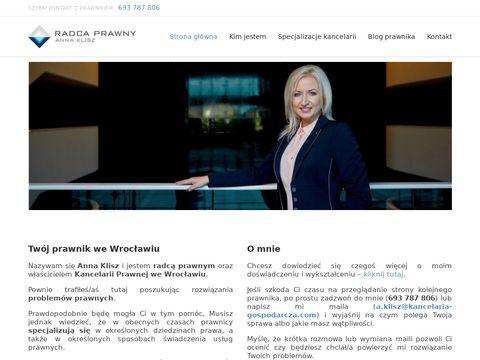 Anna Klisz - kancelaria prawna we Wrocławiu