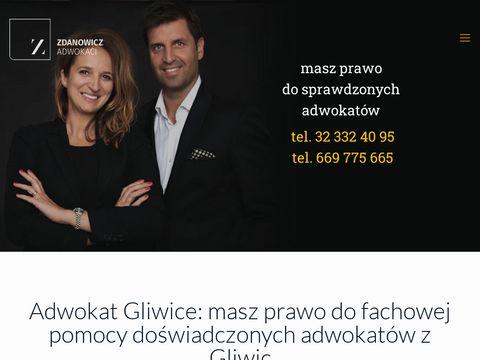 J. Panek, A, M. Zdanowicz adwokat Gliwice