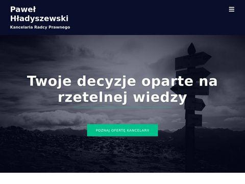 Kancelariahladyszewski.pl radcy prawnego