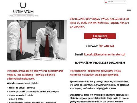 KancelariaUltimatum.pl - windykacja długów