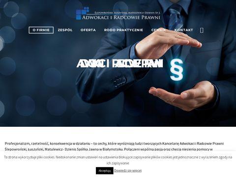 Adwokaci i Radcowie Prawni Białystok
