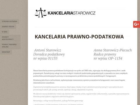 Antoni Starowicz kancelaria prawno-podatkowa