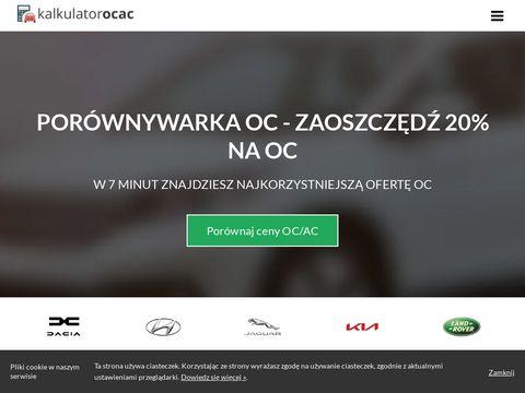 Kalkulator-oc-ac.auto.pl porównywarka ubezpieczeń