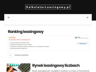 Kalkulatorleasingowy.pl - lizing