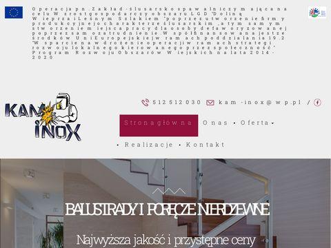 Kam-inox.pl poręcze Lublin