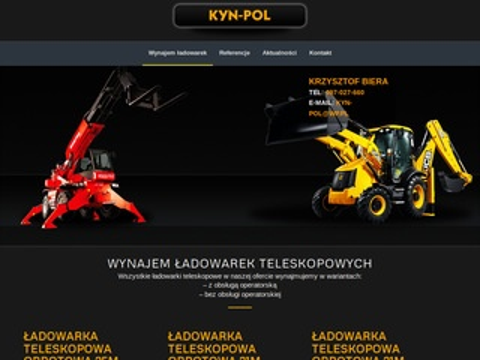 Kyn-Pol - wynajem ładowarek teleskopowych