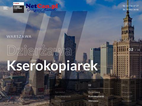 Netcan.pl kserokopiarki Warszawa