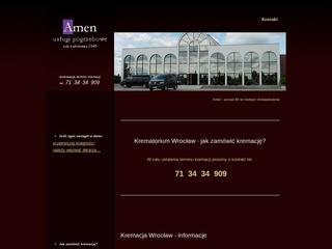 Kremacja.wroclaw.pl - zakład pogrzebowy Amen