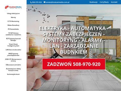 KrakSatMedia - instalacje monitoringu Kraków