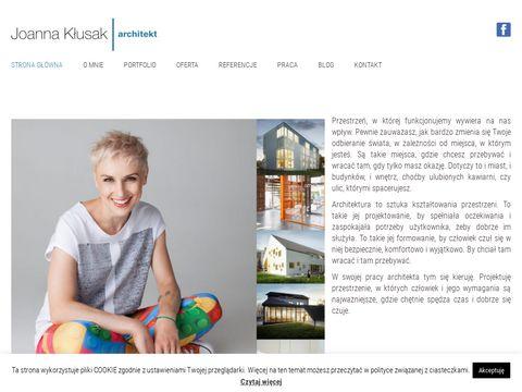 Joannaklusak.com pracownia architektoniczna Kraków
