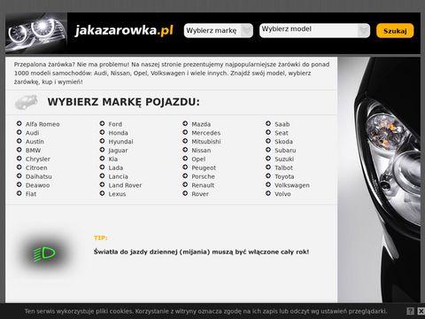 Jakazarowka.pl - Jaka żarówka Audi