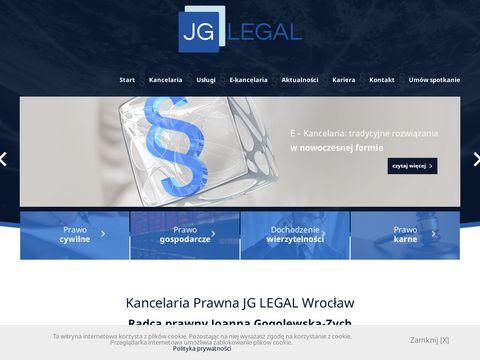 Jglegal.pl kancelaria radców prawnych we Wrocławiu
