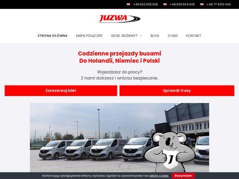 Juzwa.pl busy z Holandii do Polski codziennie
