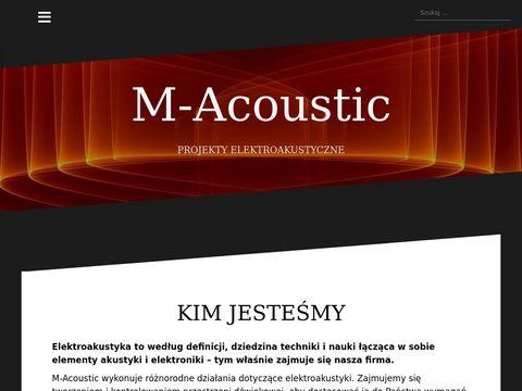 M-acoustic.pl - pomiary akustyczne