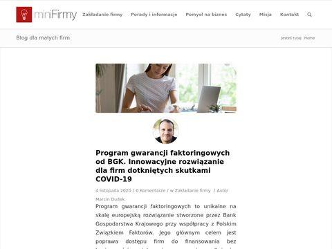 Minifirmy.pl - Porady dla przedsiębiorców