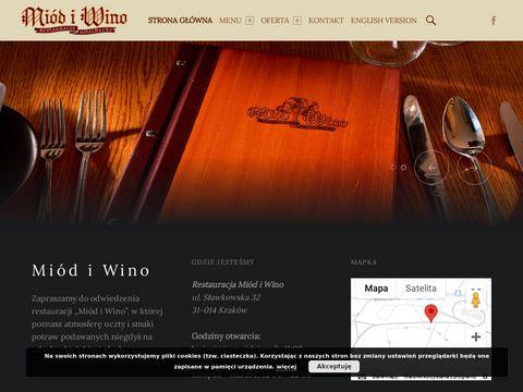 Najlepsza krakowska restauracja Miód i Wino